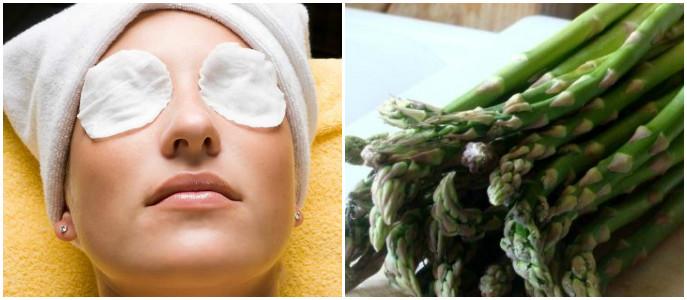 Спаржа – действенное средство от морщин, густо проявляющихся вокруг глаз