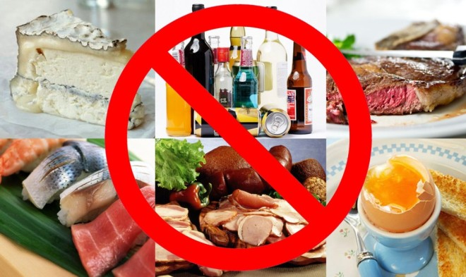 Запрещенные к приему продукты перед рентгеном