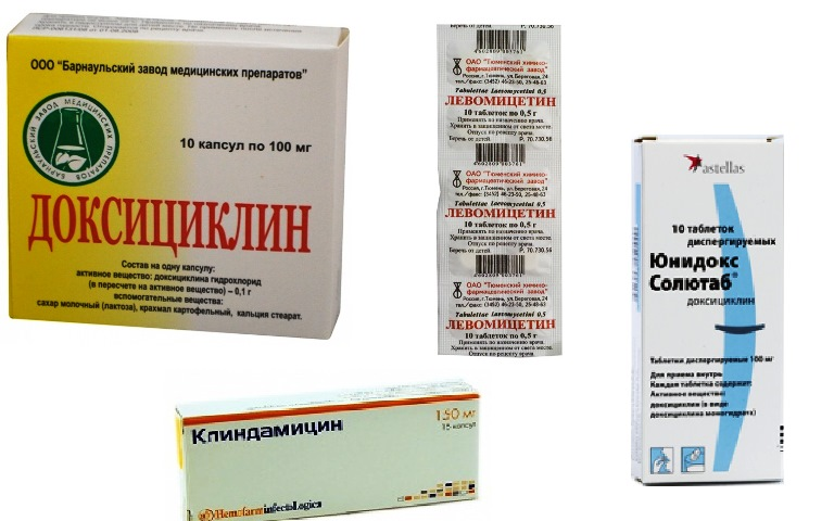 Антибиотики от прыщей на лице