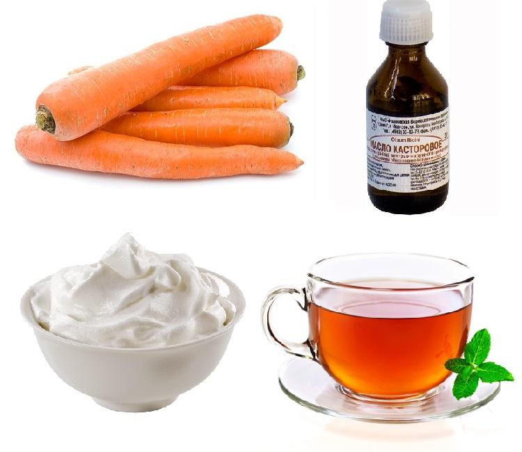 маска из моркови и чая для волос