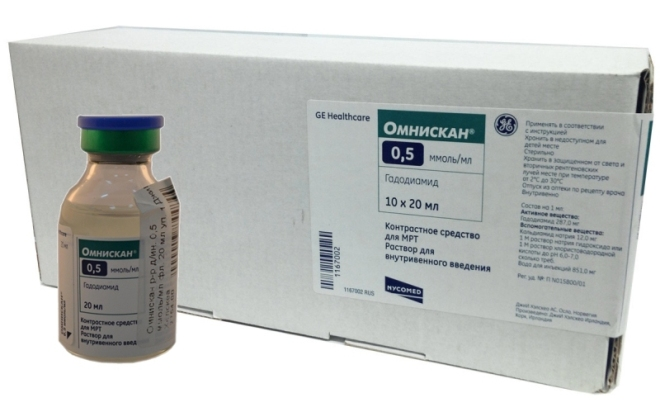 Препарат Омнискан для контрастирования МРТ