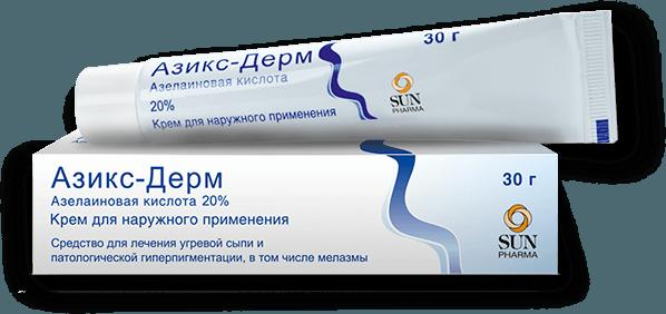 Азикс-Дерм оказывает заметное противовоспалительное воздействие и сужает поры