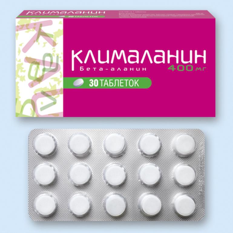 Клималанин в таблетках