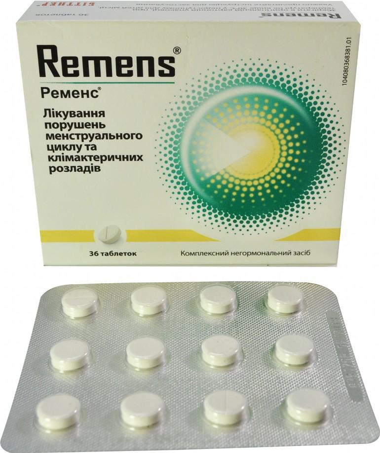 Форма выпуска препарата Ременс