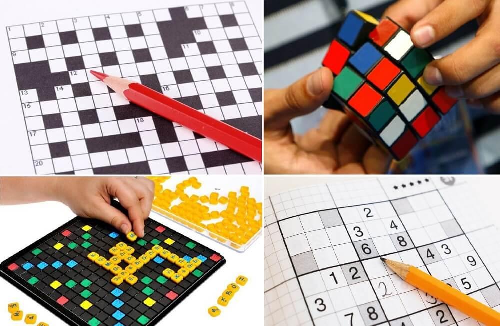 Интеллектуальные головоломки: кроссворд, кубик Рубика, настольная игра «Эрудит» и судоку