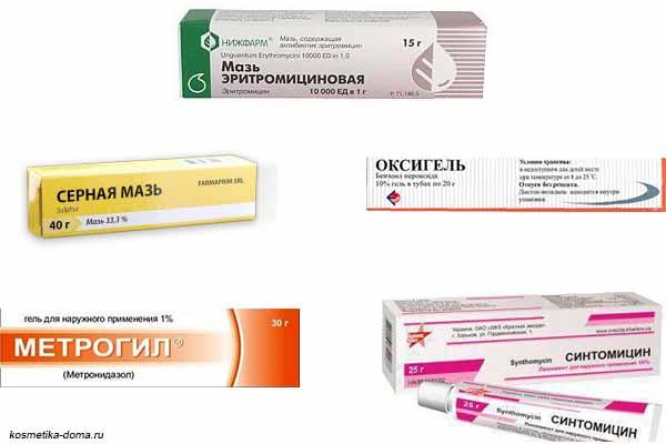 Лучшие средства от прыщей на лице в аптеке: лосьоны, мази