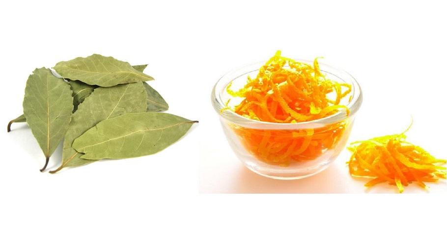 отбеливание зубов лавровым листом и кожурой апельсина